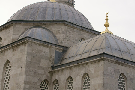 Ottoman mosque located in the large and densely populated district of sküdar, in Istanbul, Turkey. Фото со стока