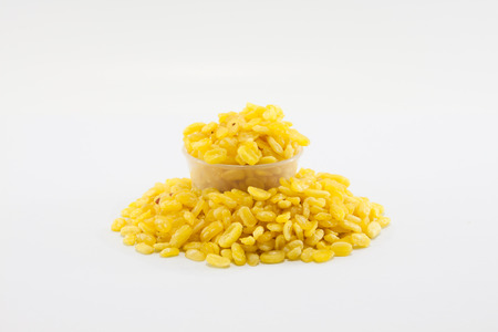 isolated shot of split mung beans Stock Photo