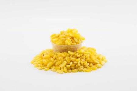 isolated shot of split mung beans Stock Photo