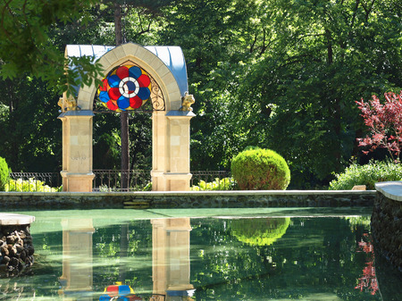 pleasure: monument Glass Jet in pleasure resort Kislovodsk,Northern Caucasus