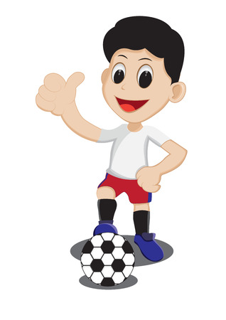 playing soccer: Illustration of kid playing soccer ball Illustration