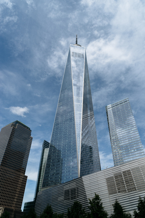 freedom: New York, USA - September 21, 2015: Freedom Tower in Lower Manhattan is one of the main symbols of the city of New York. Editorial
