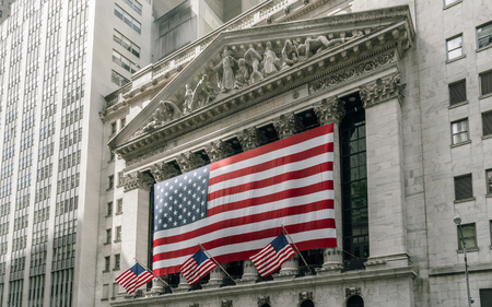 capitalization: New York, USA - September 21, 2015: Building of New York Stock Exchange.  It is the largest exchange in the world by market capitalization.