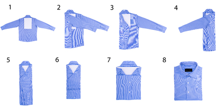 dry cleaned: How to fold a shirt using a white sheet