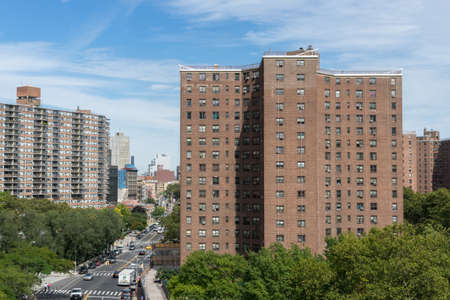 New York, USA - September 21, 2015: Condo Building near Brooklyn bridge in New York.