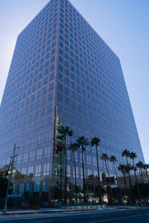 Los Angeles, USA - September 27, 2015: Low Angle View Of Modern Building Against Sky