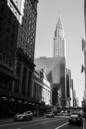 New York, USA - September 23, 2015: The skyscrapers of New York is one of the main symbols of the city, in New York.