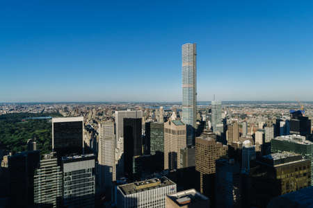 New York, USA - September 24, 2015: View of New York city from Top of The Rock. Editorial