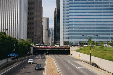 Chicago, USA - September 24, 2015: Ð¡ars on the street of Chicago, Illinois Editorial