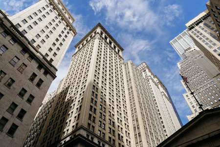 New York, USA - September 21, 2015: The skyscrapers of New York is one of the main symbols of the city, in New York.