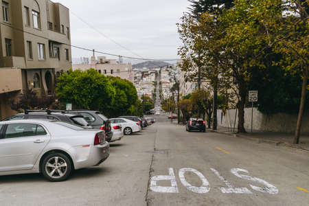 San Francisco, USA - September 30, 2015: Cars on the street of San Francisco. Editorial