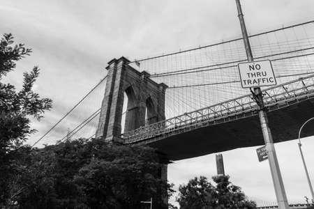 New York, USA - September 21, 2015:  Brooklyn Bridge in New York.