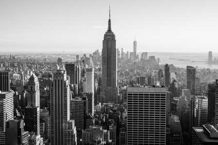 New York, USA - September 24, 2015: View of New York city and Empire State building from Top of The Rock.