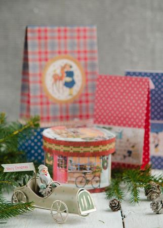 Christmas decorations, Santa Claus and Christmas gifts photo