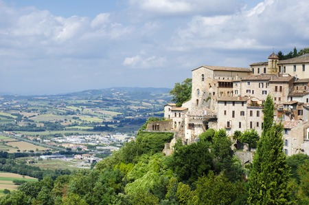 orvieto: View from of the medieval hill town of Orvieto, Umbria, Italy Stock Photo