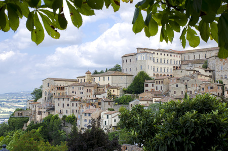 View from of the medieval hill town of Orvieto, Umbria, Italy photo