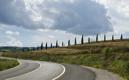 podere: scenic landscapes of a beautiful Tuscany. Italy