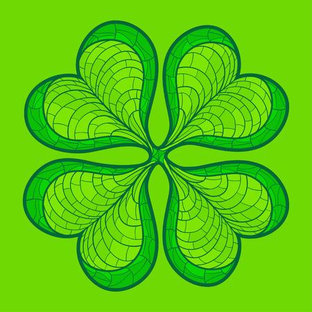 lucky clover: Decorative lucky clover leaf. Vector illustration