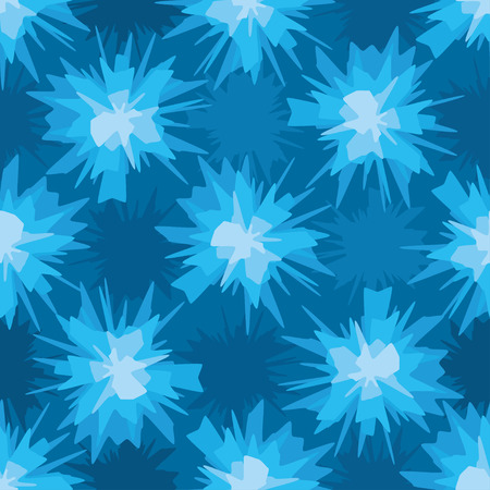 scratchy: Abstract scratchy blue blot textile seamless pattern