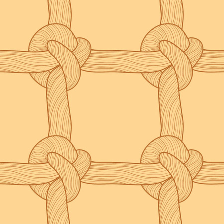 Rope and knots seamless pattern. Vector illustration Ilustrace
