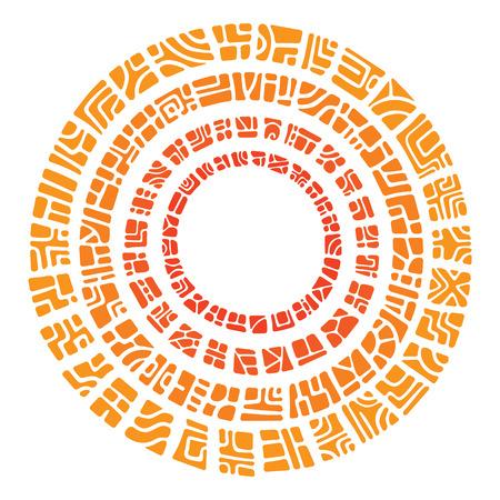 ethnic ornament circle sun