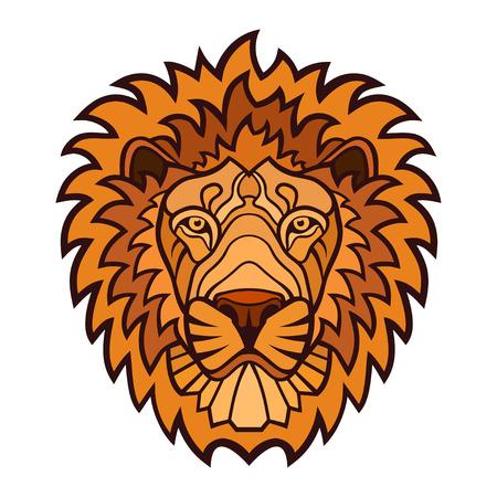 A Lion head mascot. color illustration