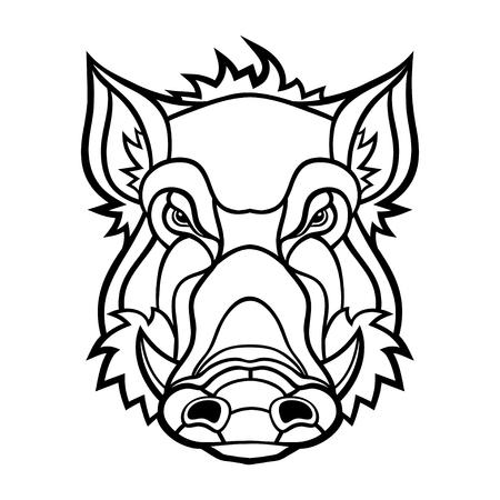 Head of boar mascot design.