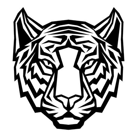 Tiger head logo tribal mascot. Vector isolated illustration