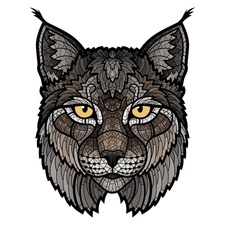 Wildcat lynx mascot head. This is isolated vector illustration ideal for a T-shirt graphic