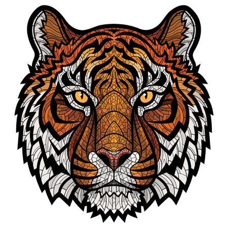 タイガー ヘッド分離  イラスト・ベクター素材