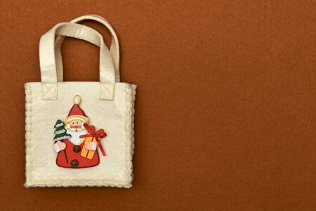 A free gift bag with New Year symbols. 写真素材