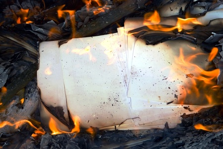 burning paper: Burning paper, fire