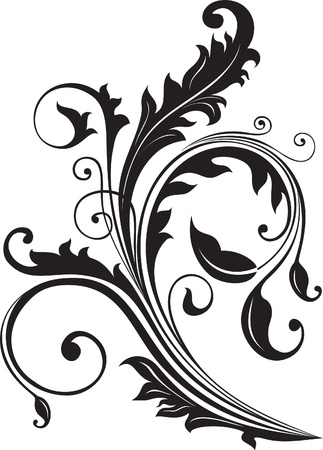 accent abstract: Ornament, decoration, floral  Illustration