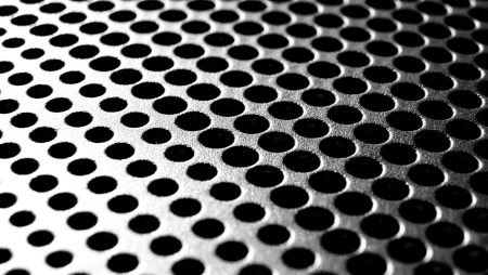 titanium: Circle texture Stock Photo