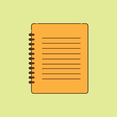 Agenda Book, for use in commercial office equipment display campaign tool, with stylish retro design, icon Иллюстрация