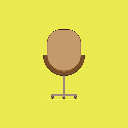 stylish chair: Illustratio Office Chair, for use in commercial office equipment display campaign tool, with stylish retro design, icon