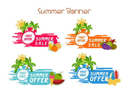 Banner summer. Fruit. fast offer. Discount. Fast selling