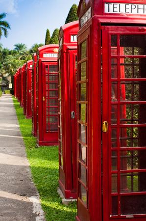 telephone park Stock Photo