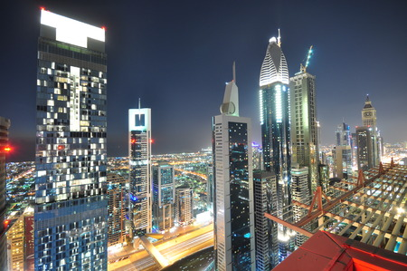 The tall towers of Sheikh Zayed Road showcase much of Dubai s modern architectural developments 20 years ago it was only a desert here