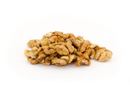 Walnuts isolated on white background photo