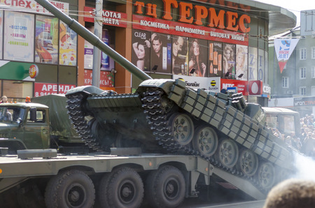 fascism: Kaliningrad Russia May September 2015: Military Parade for the 70th anniversary of the victory over fascism. Kaliningrad.