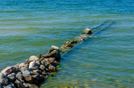 baltic sea: Breakwater on a Baltic Sea