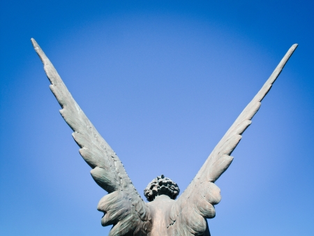 angel headstone: angel wings Stock Photo