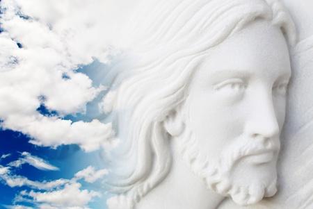 creador: Jesucristo en el cielo Foto de archivo