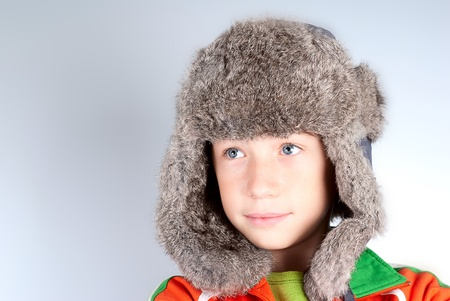positiv: smiled caucasian child with hat