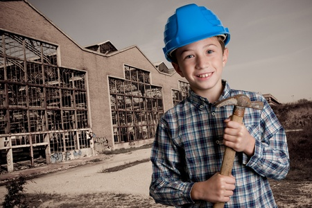housebuilding: demolition boy