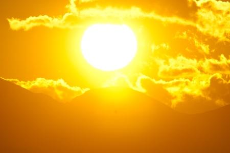 大太陽日落
