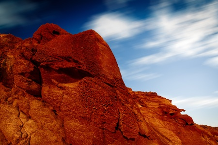 red rock and blue sky Stock Photo - 11601122