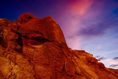 red rock and sunset sky Stock Photo - 11601123