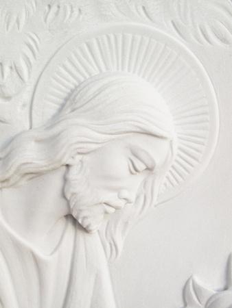 白色大理石墓碑耶穌基督